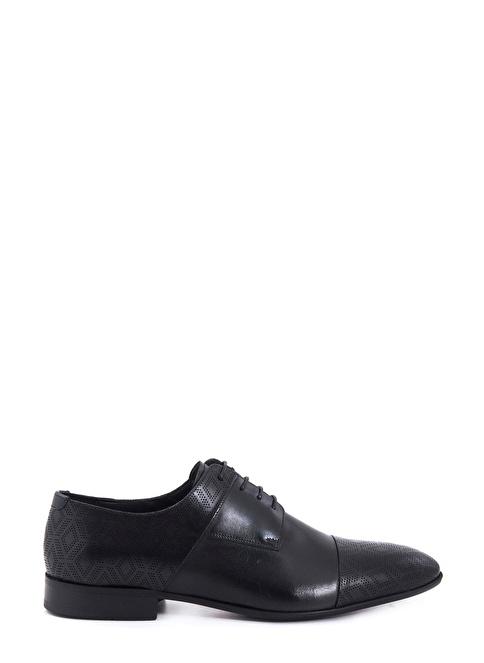 Kemal Tanca %100 Deri Bağcıklı Klasik Ayakkabı Siyah